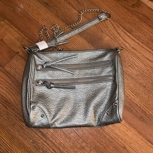 Chain Purse Silver with Pockets.
